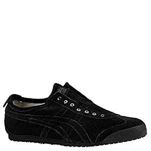 Onitsuka Tiger Mexico 66 Slip-On Classic Suede Sneaker (7.5 B(M) US Women / 6 D(M) US Men, Black/Black
