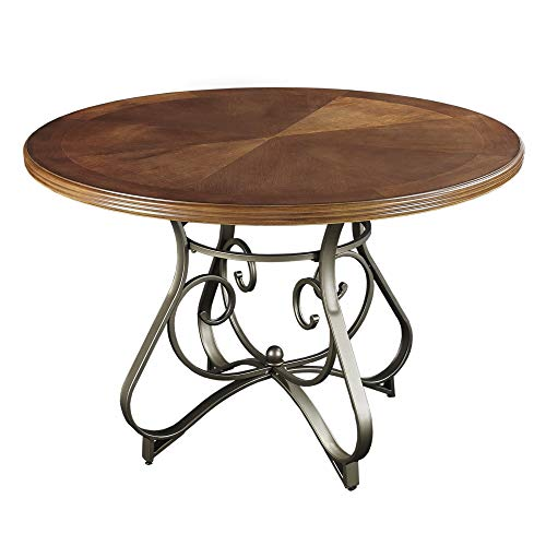 Powell Furniture Hamilton Dining Table in Medium Cherry Finish