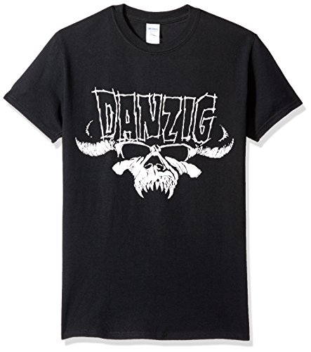FEA Men's Danzig Adult Short Sleeve T-Shirt, Skull and Logo Black, X-Large