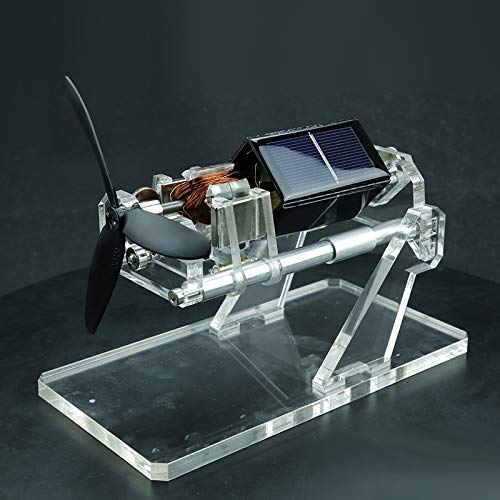 RISHIL WORLD Solar Fan Magnetic Levitation Levitating Brushless Mendocino Motor w/Propeller Education Model