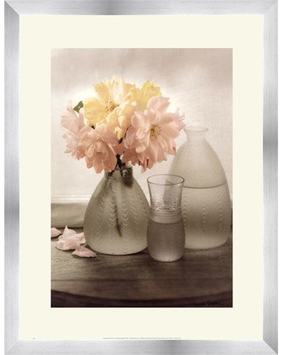 Framed Frosted Glass Vases III- 16x20 Inches - Art Print (Stainless Steel Frame) (Framed Steel Stainless Glass)