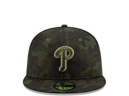 New Era Philadelphia Phillies 2019 MLB Armed Forces Day On-Field 59FIFTY Fitted Hat - Camo (7 1/2)