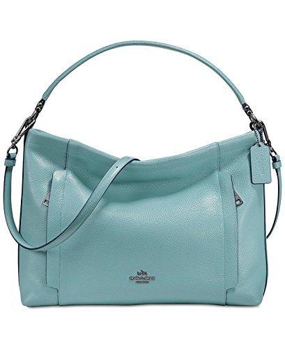Coach Pebbled Leather Scout Hobo Handbag