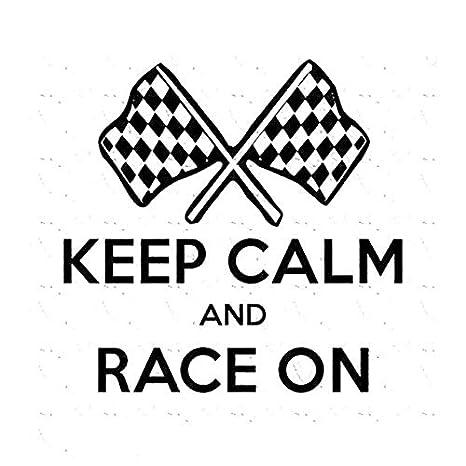 decal style 11 6cmx11 5cm creative keep calm and race on racing S7 Car decal style 11 6cmx11 5cm creative keep calm and race on racing car window car stickers c5 1880 amazon