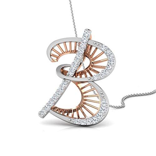 Or Rose 14K 0,1ct tw Round-cut-diamond (IJ | SI) Pendentif