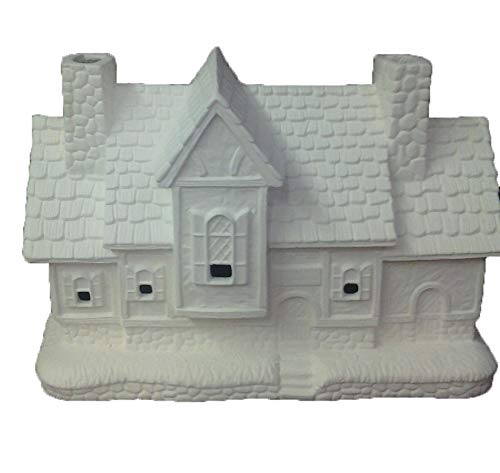 Inn 6'' x 9'' x 4'' Ceramic Bisque, Ready to Paint by Creative Kreations Ceramics