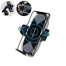 車載Qi ワイヤレス充電車載ホルダー 10W/7.5W 急速ワイヤレス充電...