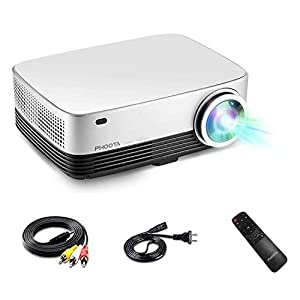 "3D Home Theater Projector, PHOOTA 2019 Upgraded 4500 Lumens LCD/LED Contrast Ratio 5000:1, Full 1080P and 200"" Large Display Cinematic Projector, Compatible with TV, USB, HDMI, HiFi Stereo"