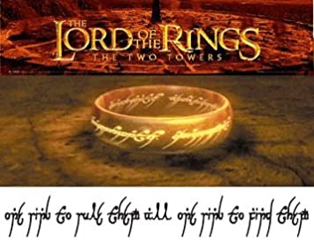Lord Of The Rings Temporary Tattoo 4x23 Cm Amazoncouk Toys