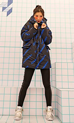 Jp Girl Coat gzco 526208 Pocket Trendy Hood Snap Hiphop Thick Zipper Puffer Big F1WwdvZgB