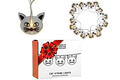 Brooklyn Lighting Company -  20 LED Cat String Lights, Battery Operated String Lights, Party Decor Supplies for Indoor, 8 Feet Long -