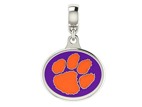Clemson University Tigers Sterling Silver Bead Charm Fits All European Style Beaded Charm Bracelets
