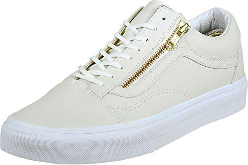 Vans Unisexe Adulte De Baskets Skool Zip Blanc