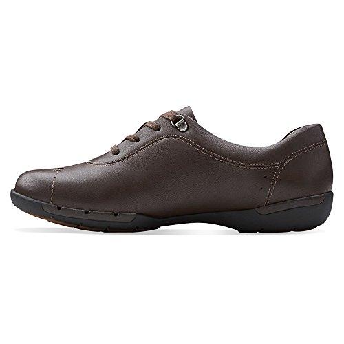 CLARKS Oxford Shoes Un Womens Brown Lace Halsie Flats Up tPPzprq