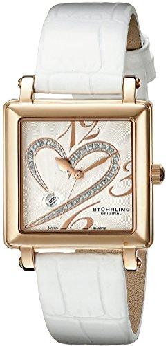 Stuhrling Original Women's 253XL.1145P2 Amour Aphrodite Courtly Passion Quartz Diamond Date White Watch