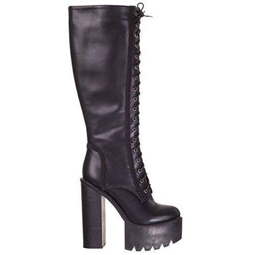 donna Size One Nero nero Stivali Banned nero U4PPH