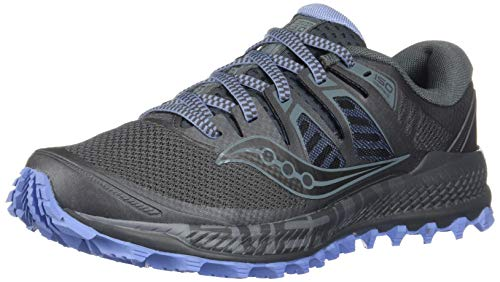 Saucony Women's Peregrine ISO Trail Running Shoe, Gunmetal, 5.5 M US by Saucony (Image #1)
