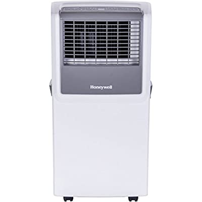 Honeywell MP08CESWW 8000 BTU Portable Air Conditioner with Front Grille and Remote Control, White/Grey