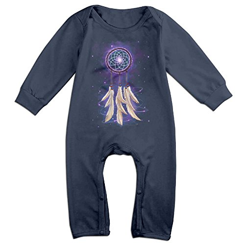 [Raymond Dreamcatcher Long Sleeve Jumpsuit Outfits Navy 12 Months] (Forrest Gump Kid Costume)