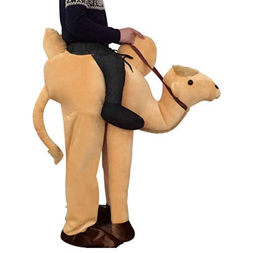 Ride On Ostrich Mascot (Unisex Ride On Riding Shoulder Adult Costume,Ostrich Costume)