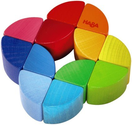 HABA Rainbow Ring Wooden Clutching Toy (Made in -