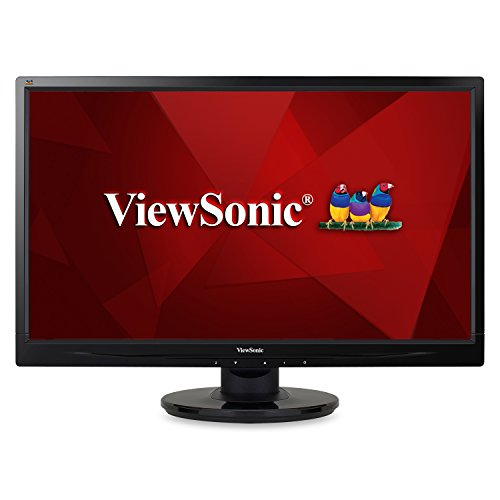 "ViewSonic VA2446M-LED 24"" 1080p LED Monitor DVI, VGA"