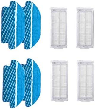 Zyj Store Brosse latérale pour aspirateur Conga 3490 4090 Chiffon serpillère pour aspirateur Xiaomi Mijia STYJ02YM (taille : lot 9)