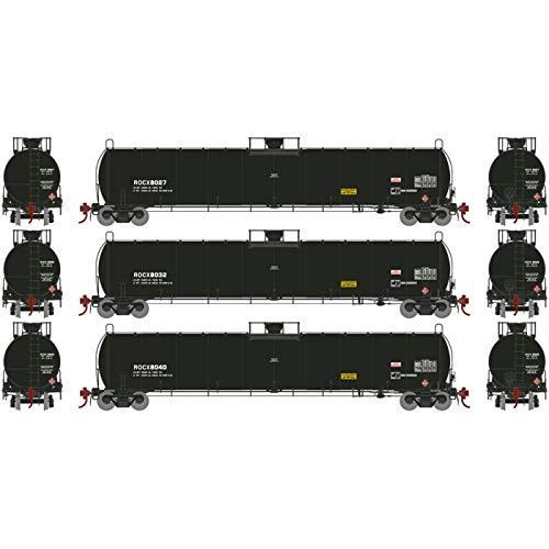 Athearn HO 33 900-Gallon LPG Tank Early ROCX (3), ATHG25493