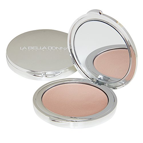 La Bella Donna Illuminating Cream Highlighter Compact, Formulated with Pure Clean ingredients, Ideal for disguising hyper-pigmentation and other skin imperfections – Candlelight