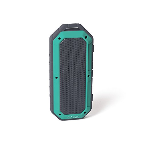 KLAZZO Beach Bomb IP66 Waterproof Shockproof Portable Bluetooth Speaker With built in Mic Aux-In and 2,000mAh Battery - Mint - Rating Unstoppable