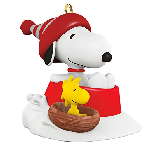 Hallmark Keepsake 2017 Miniature Winter Fun with Snoopy and Woodstock Series #20 Christmas Ornament