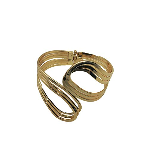 - VANVENE Cuff Gold Bangle Bracelets for Women Fashion (Geometric)
