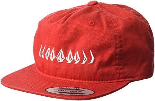 Volcom Boys' Big CRESTICLE HAT, Spark red, ONE Size FITS All