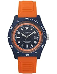 Nautica Mens IBIZA Quartz Resin and Silicone Sport Watch, Color:Blue (Model: NAPIBZ004)