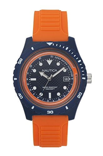 Nautica Men's 'IBIZA' Quartz Resin and Silicone Sport Watch, Color:Blue (Model: NAPIBZ004)
