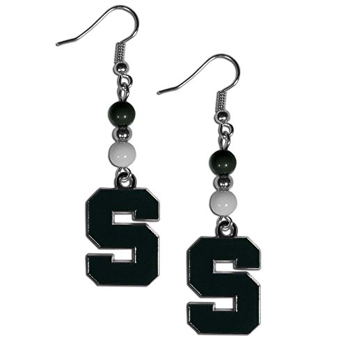 Michigan State Spartans Earrings - Siskiyou NCAA Michigan State Spartans Fan Bead Dangle Earrings