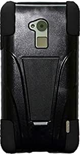 PiGGyB Case for HTC One Max T6 Black Hard Kickstand Black Border Skin