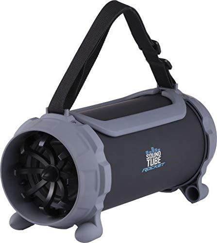 GOCLEVER Sound Tube Rocket 13 W 2.1 Portable Speaker System Negro, Gris - Altavoces portátiles (2.1 Canales, De 2 vías, 13 W, 3 W, 7 W, Inalámbrico y alámbrico)