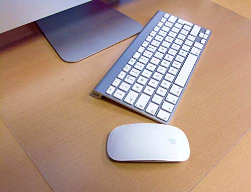 Desktex, Anti-Slip Desk Mat, Rectangular, Clear, 17