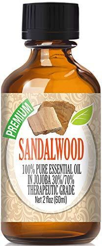 Sandalwood Essential Oil - 100% Pure Essential Oil (70% Jojoba / 30% Sandalwood) - 60ml by Healing Solutions