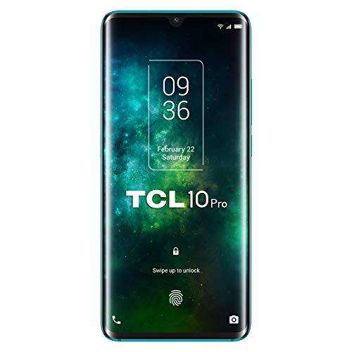 TCL 10 Pro – Smartphone de 6.53″ FHD+ con NXTVISION (Qualcomm 675 4G, 6GB/128GB Ampliable MicroSD, Cámaras de 64MP+16MP+5MP+2MP, Batería 4500mAh, Android 10 actualizable) Color Verde