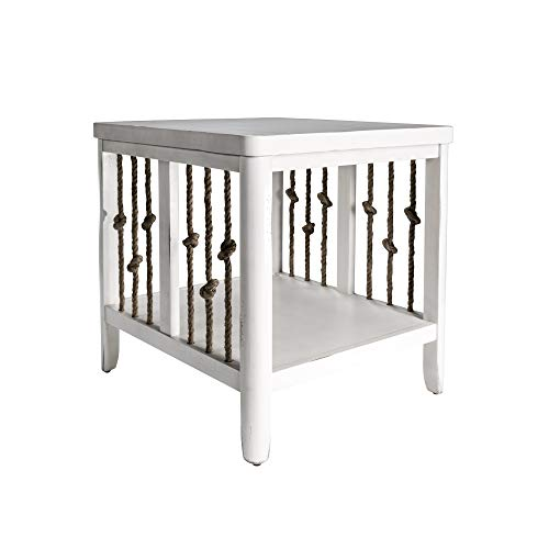 Liberty Furniture Industries Dockside II End Table, W23 x D25 x H24, White (Living Coastal Furnishings)