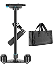 Neewer Aluminium Alloy 24 inches/60 centimeters Handheld Stabilizer with 1/4 3/8 inch Screw Quick Shoe Plate for Canon Nikon Sony and Other DSLR Camera Video DV up to 6.6 pounds/3 kilograms (Black)