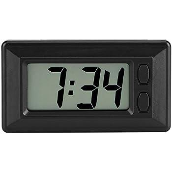 Ultra-thin Time Data LCD Screen Digital Clock Calendar For Car Dashboard#q