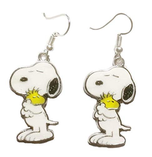 (Snoopy Holding Woodstock Enamel Metal French Wire)