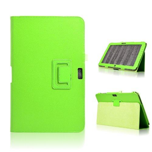 Dolextech Funda case cover de cuero delgada para Samsung Ativ Smart PC XE500T/XE500T1C 11,6 pulgadas tableta de Windows 8 con soporte (verde)