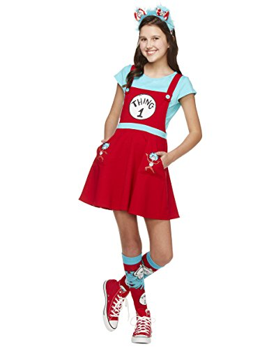 Thing 1 And Thing 2 Costumes For Tweens (Spirit Halloween Kids Thing 1 and Thing 2 Dress Costume – Dr. Seuss)