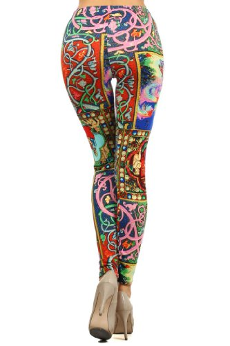 Lady's Renaissance Printed Leggings
