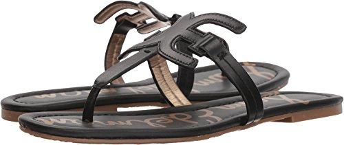 Sam Edelman Women's Carter Flat Sandal, Black Leather, 7 M US