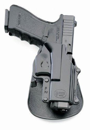 Holster Fobus Gl2 Paddle - Fobus Tactical GL-2 Standard Right Hand Paddle Holster Glock - 17, 19, 22, 23, 34, 35-Black